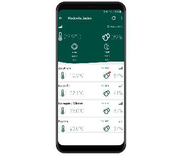 aplikacja mobilna sterownika klimatu hodowli ślimakow